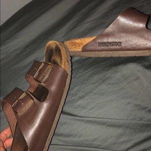 brown leather birkenstock's